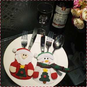 8 PCS Christmas Silverware Holder