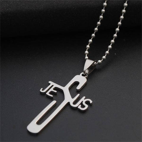 Stainless Steel Jesus Pendant Necklace