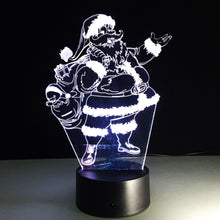 Load image into Gallery viewer, Changing Santa Claus Lamp