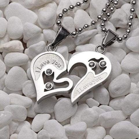 Heart Pendant Couple Necklace