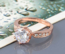 Load image into Gallery viewer, Rose Gold Austrian Crystal Ring