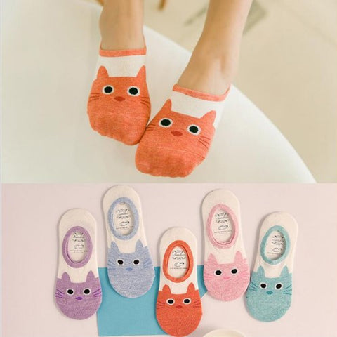 Christmas Gift Cat Winter Ankle Socks