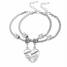 Load image into Gallery viewer, ★ FREE ★  2 Pcs Mother Daughter Love Heart Bracelets