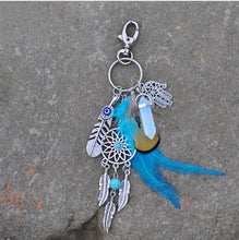 Load image into Gallery viewer, Opal Stone Dreamcatcher Keyring