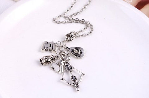 The Walking Dead Charm Necklace