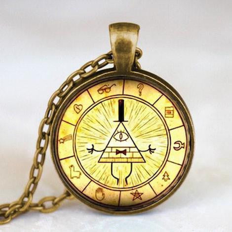Gravity Falls Bill Cipher Wheel Necklace