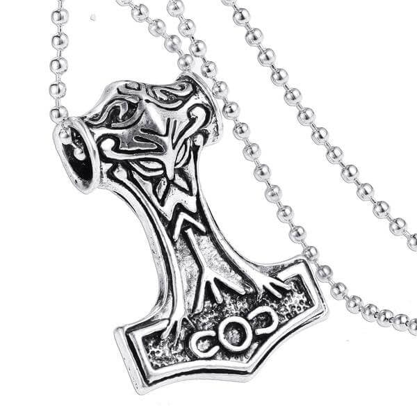 Dark World Thor Hammer Necklace