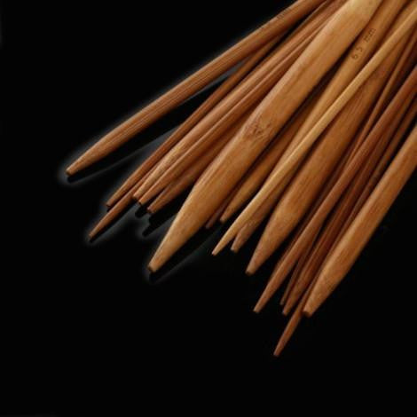 Circular Bamboo Carbonized Knitting Needles - 18 Pairs
