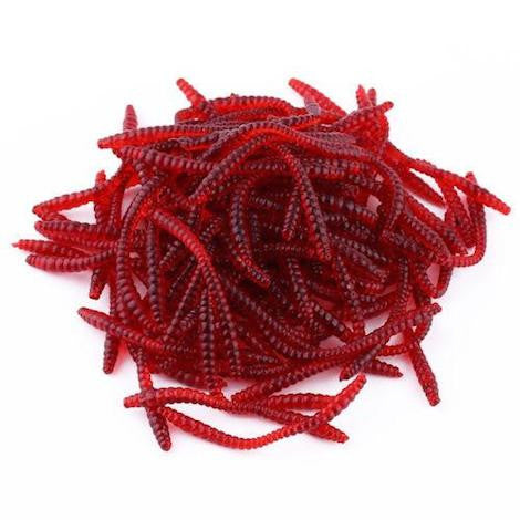 ★ FREE ★ 100pcs Red Earthworm Fishing Lures