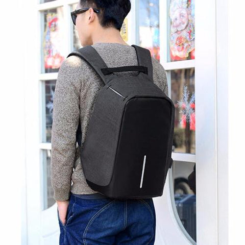 Anti-Theft Oxford Backpack - USB Charging, Waterproof, Laptop Bag