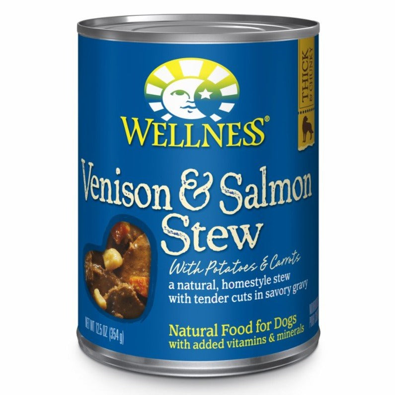 Wellness Venison & Salmon Stew with Potatoes & Carrots Canned Dog Food (354g/12.5oz)