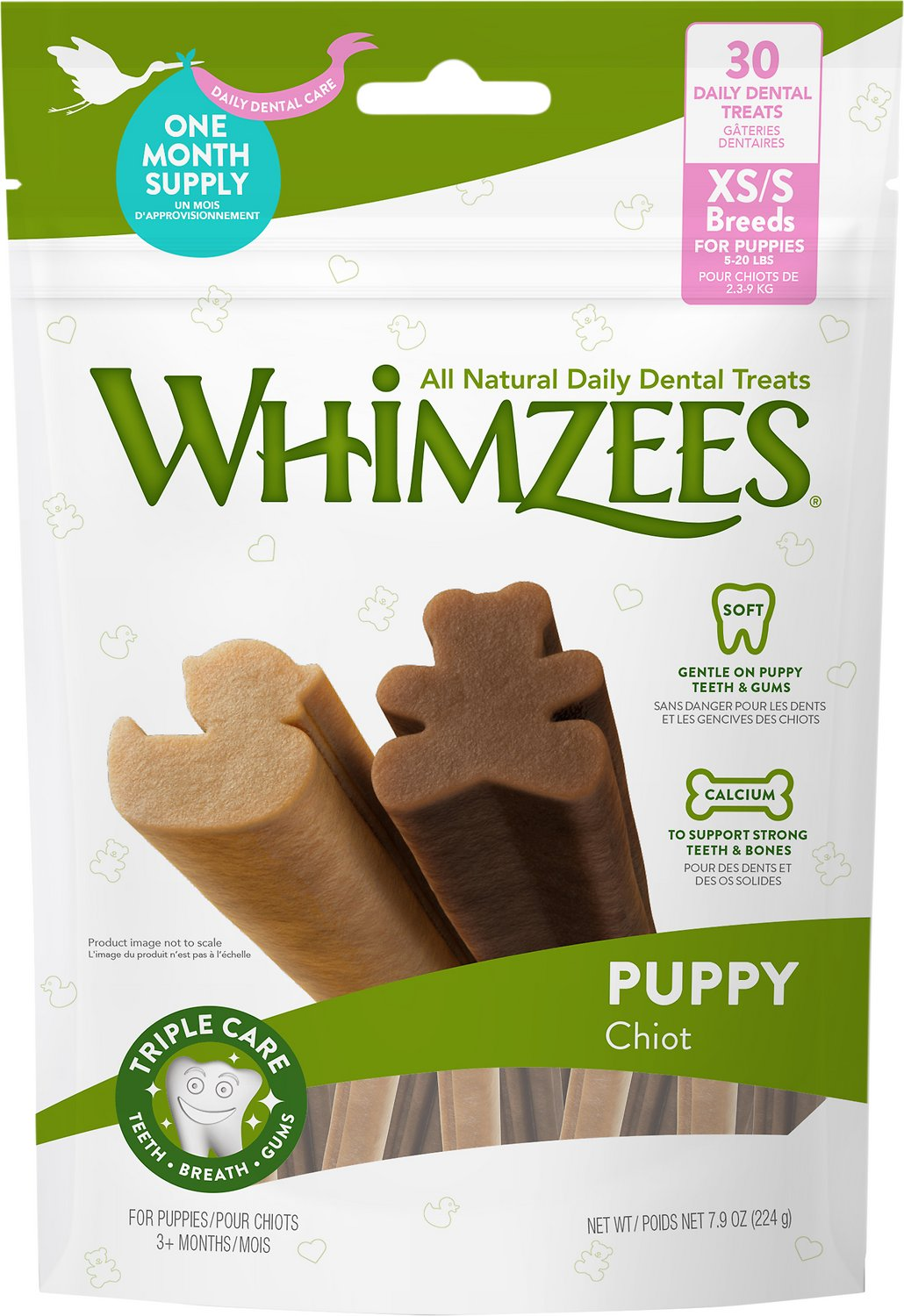 Whimzees Puppy Dental Dog Treats