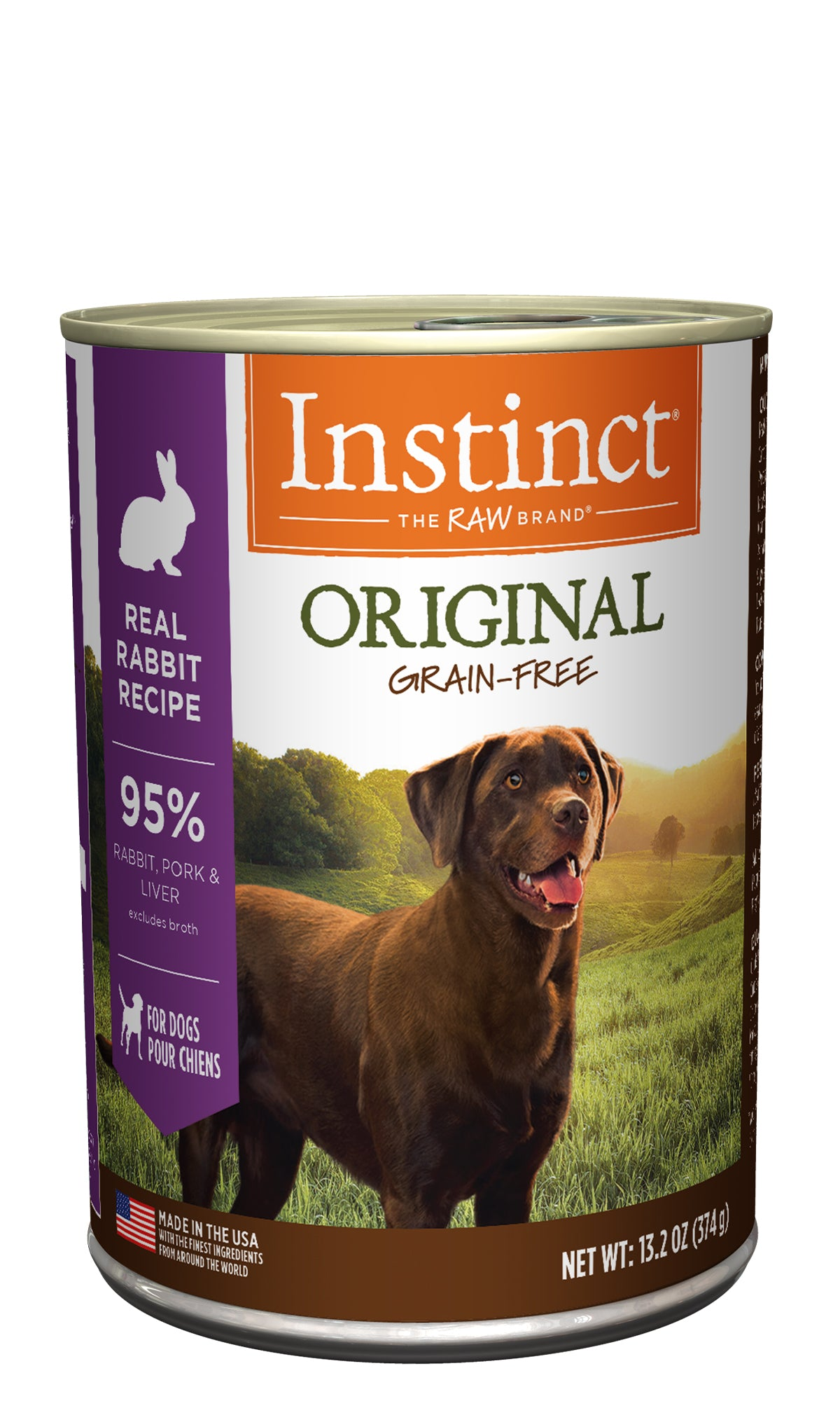 Instinct Original Real Rabbit Canned Dog Food (374g/13.2oz)