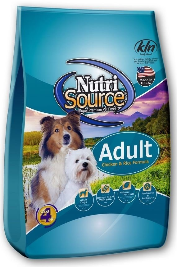 Nutri Source Adult Chicken & Rice Dog Food (6.8kg/15lb)