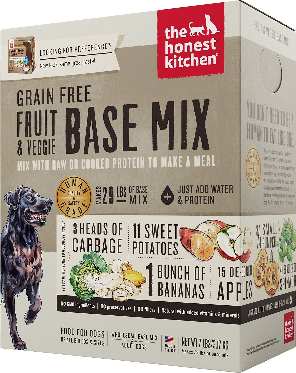The Honest Kitchen Meat Free Fruit & Veg Dehydrated Dog Food