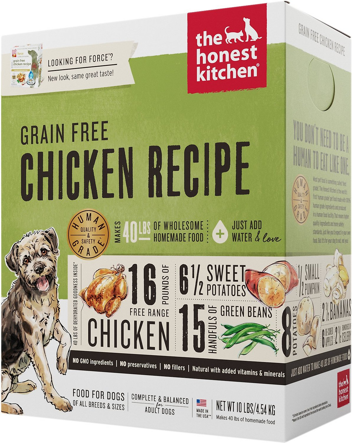 The Honest Kitchen GF Chicken Dehydrated Dog Food