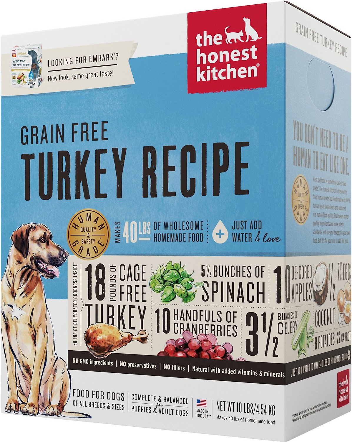 The Honest Kitchen GF Turkey Dehydrated Dog Food