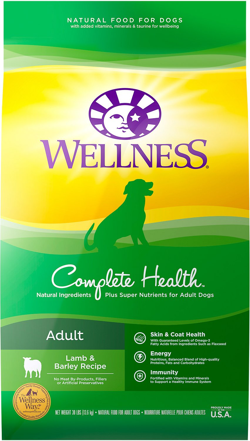 Wellness Super5Mix Complete Health Lamb, Barley & Salmon Dog Food (13.6kg/30lb)