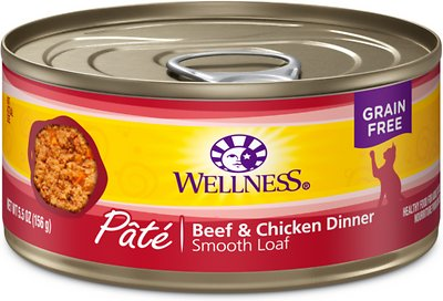 Wellness Beef & Chicken Smooth Loaf Pâté GF Canned Cat Food