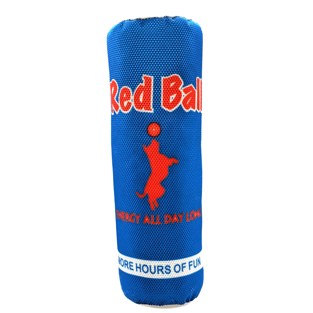 Ethical Pet Red Ball Fun Drink Squeaky Plush Dog Toy