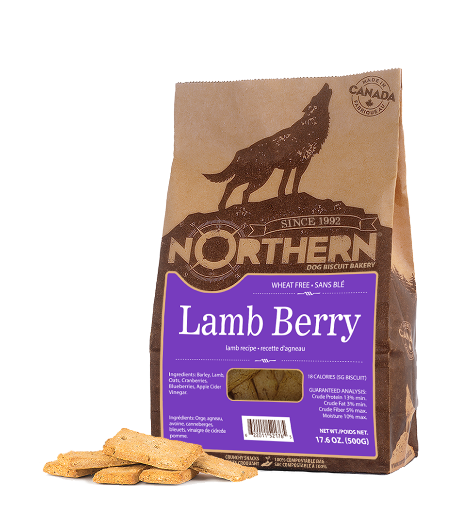 Northern Biscuit Wheat Free Dog Treats - Lamb Berry (500g)