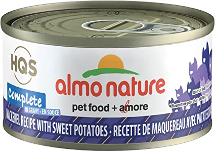 Almo Nature Complete Mackerel with Sweet Potatoes in Gravy Canned Cat Food (70g/2.5oz)