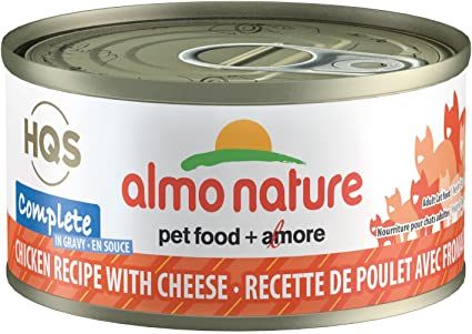 Almo Nature Complete Chicken with Cheese in Gravy Canned Cat Food (70g/2.5oz)