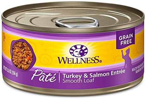Wellness Turkey & Salmon Smooth Loaf Pâté Canned Cat Food