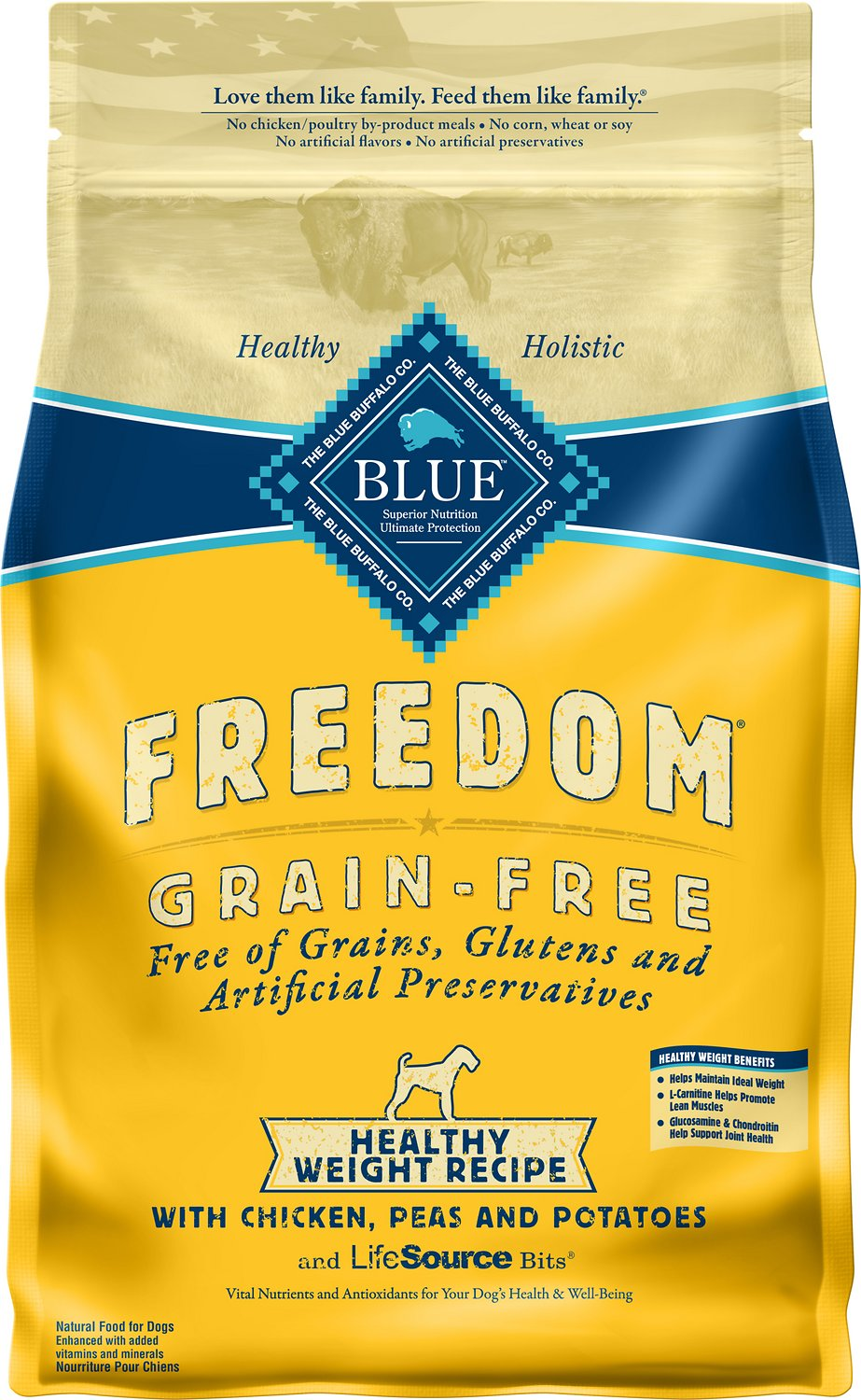 Blue Buffalo Freedom Healthy Weight Chicken GF Dog Food (10.8kg/24lb)