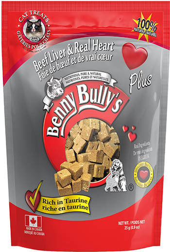 Benny Bully's Beef Liver & Real Heart Cat Treats (25g)