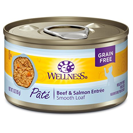 Wellness GF Beef & Salmon Canned Cat Food
