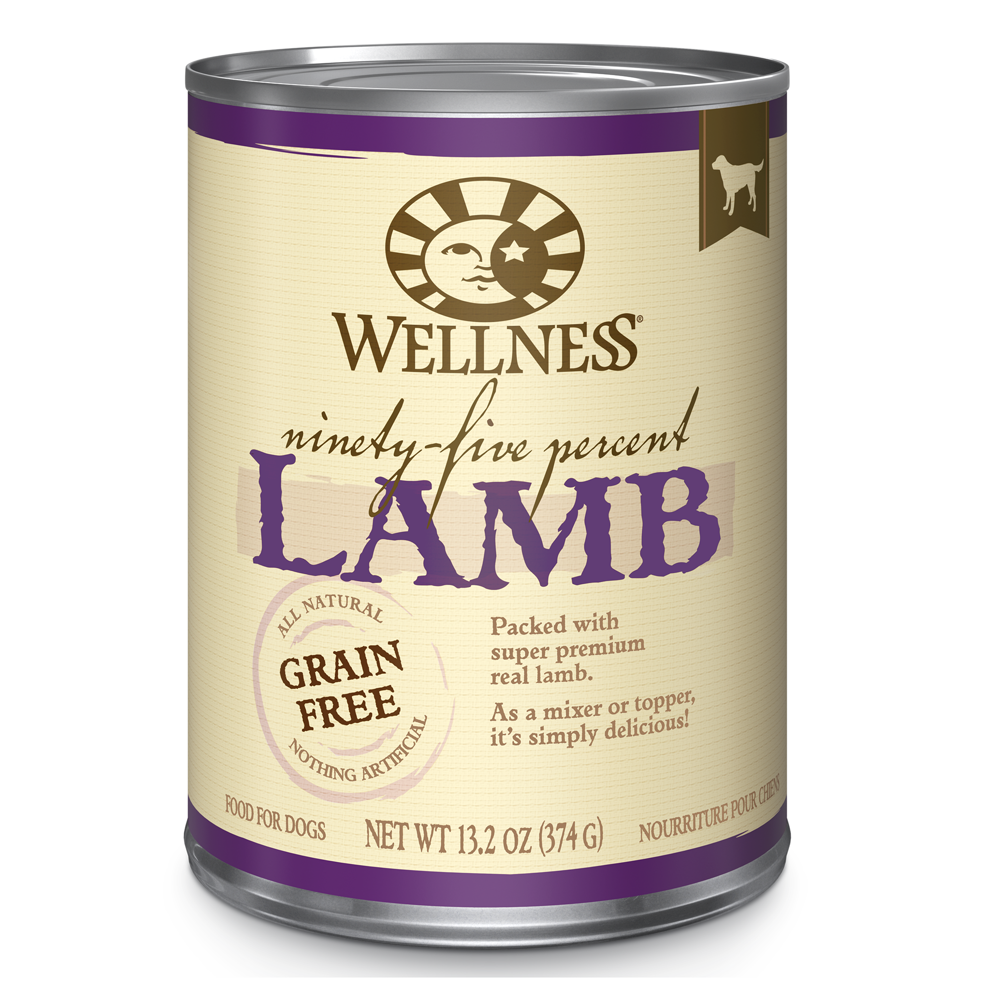 Wellness Grain Free Lamb 95% Canned Dog Food (13oz)