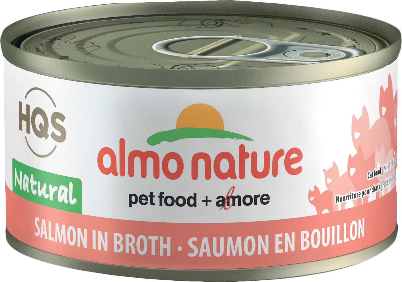Almo Nature Salmon in Broth Canned Cat Food (70g/2.5oz)
