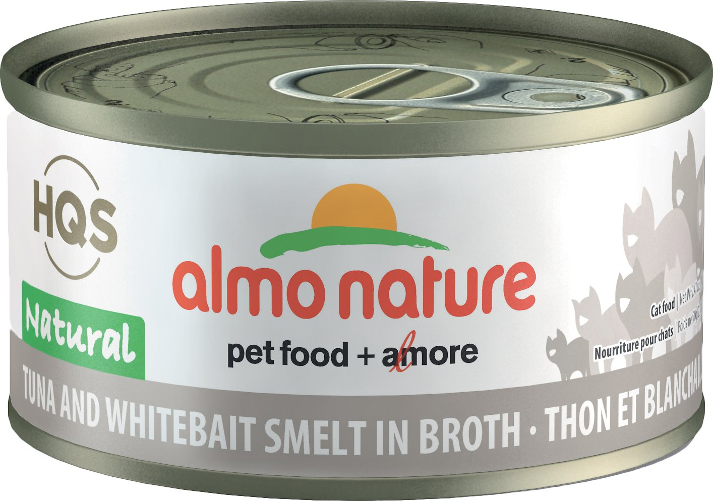 Almo Nature Tuna & Whitebait Smelt in Broth Canned Cat Food (70g/2.5oz)