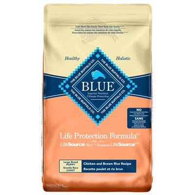 Blue Buffalo Life Protection Chicken & Brown Rice Large Breed Puppy Dog Food (11.7kg/26lb)