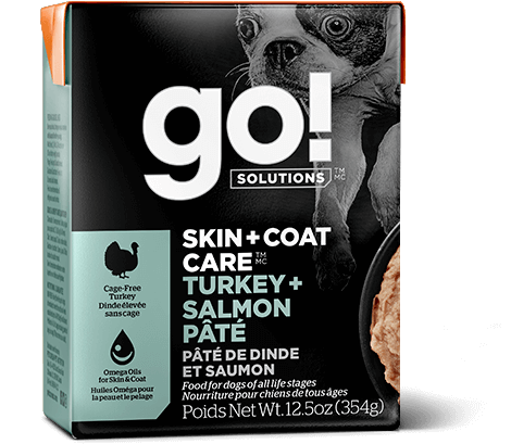 Go! Tetra Pak Skin & Coat Turkey & Salmon Dog Food (12.5oz)