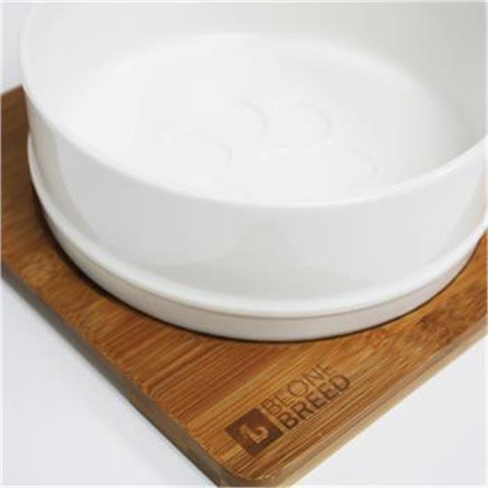 Be One Breed Bamboo & Ceramic Bowl Set