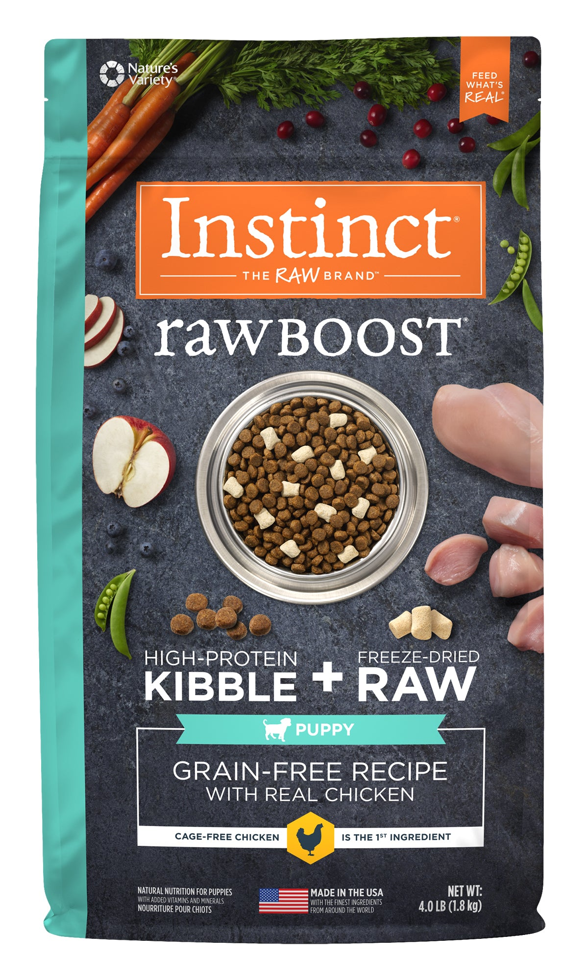 Instinct RawBoost Chicken GF Puppy Dog Food (4.5kg/10lb)