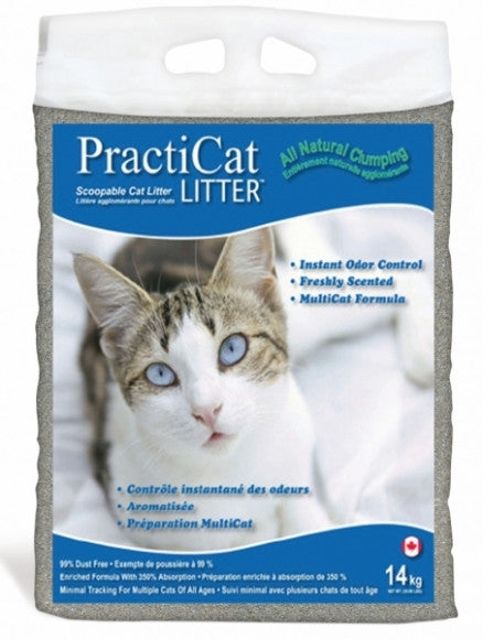 Practicat Clumping Cat Litter (14kg bag)