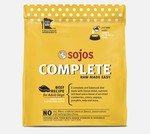 Sojos Complete Beef GF Dog Food - Add Water