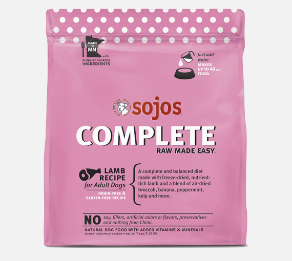 Sojos Complete Lamb GF Dog Food - Add Water (7lb)