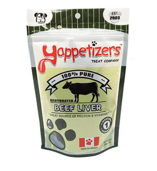 Yappetizers Beef Liver Dog Treats (85g)
