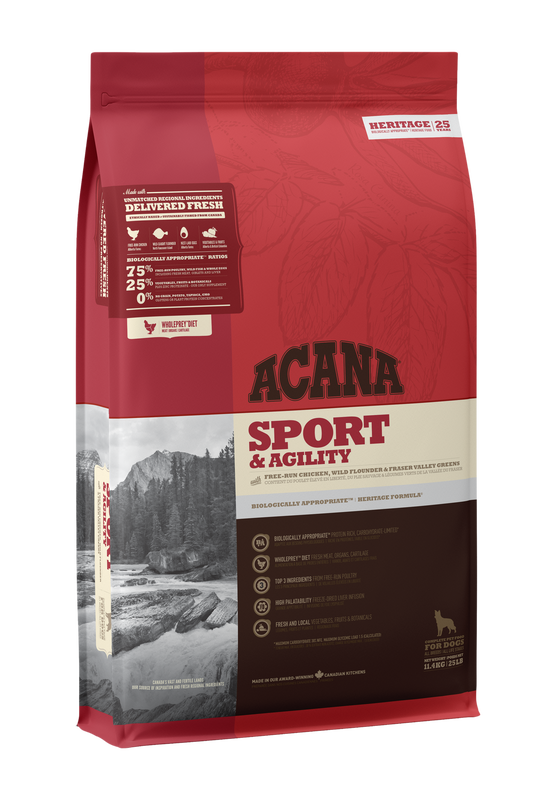 Acana Sport and Agility Dog Food (11.4kg/25lb)