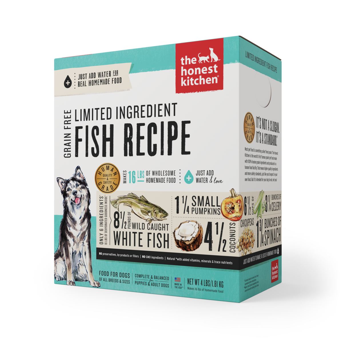 The Honest Kitchen LID Fish Dehydrated Dog Food