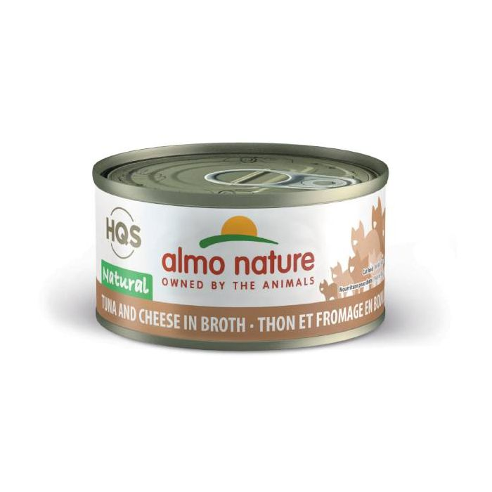 Almo Nature Tuna & Cheese in Broth Canned Cat Food (70g/2.5oz)