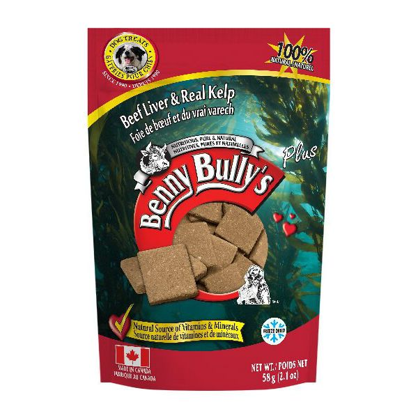 Benny Bully's Beef Liver plus Real Kelp Dog Treats (58g)