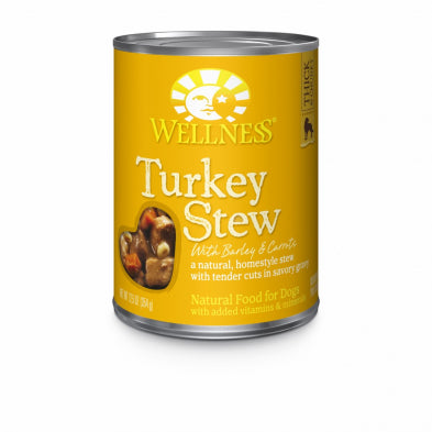 Wellness Turkey Stew with Barley & Carrots Canned Dog Food (354g/12.5oz)
