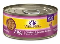 Wellness Chicken & Lobster Smooth Loaf Pâté GF Canned Cat Food