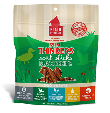 Plato Mini Thinkers Duck Dog Treats