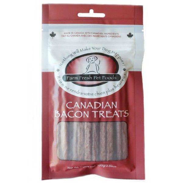 Farm Fresh Pepperoni Dog Treats - Canadian Bacon (100g)